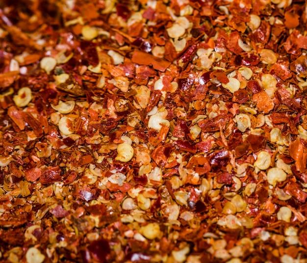 Céréales sèches sur le marché pour la vente