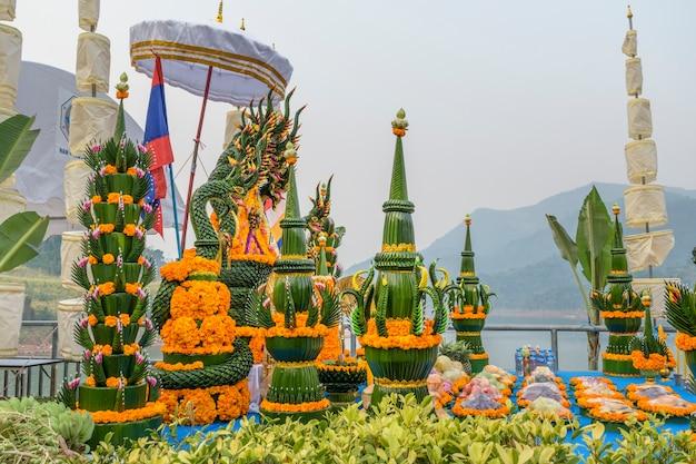 Cérémonie de bouddha religieux