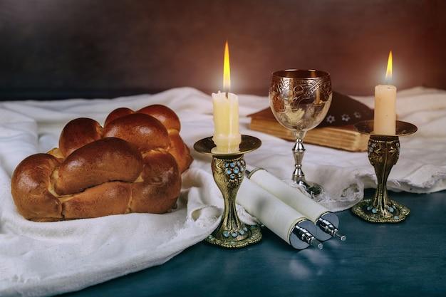 Cérémonie à havdala à la fin du samedi juif