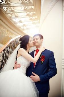 Cérémonie de mariage dans l'ancienne homestead