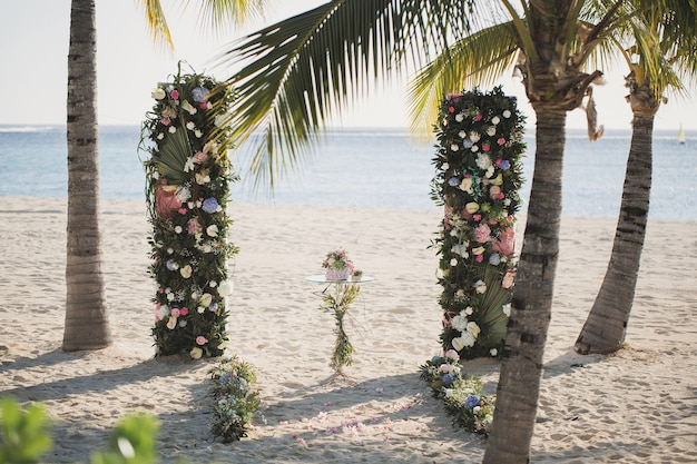 Cérémonie de mariage sur la plage