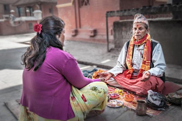 Cérémonie de puja