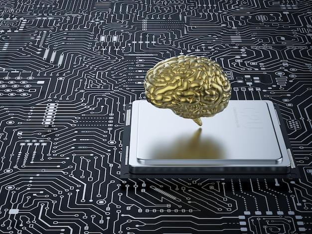 Cerveau ai rendu 3d avec cpu sur carte mère