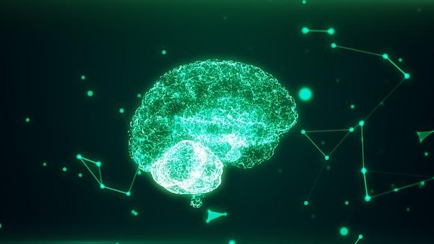 Cerveau humain formé de particules