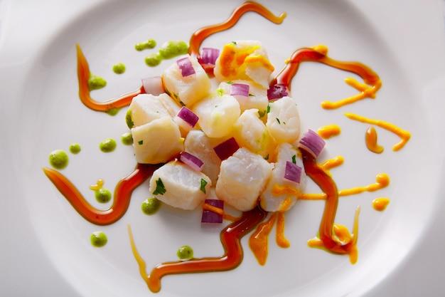 Ceviche recette style gastronomique moderne