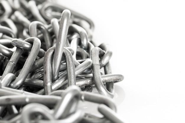 Chaîne en métal argenté