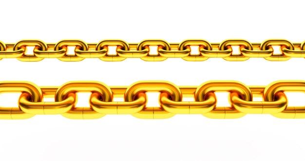 Chaine en or. isolé