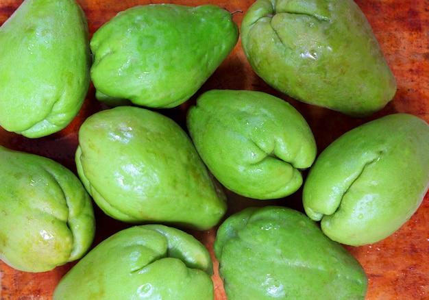 Chaiote à la mangue, légume mirliton