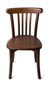 Chaise en bois vintage à l'ancienne isolated on white