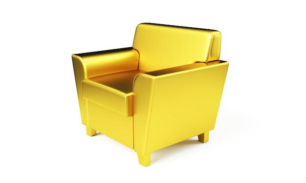 Chaise du trône isolée. rendu 3d