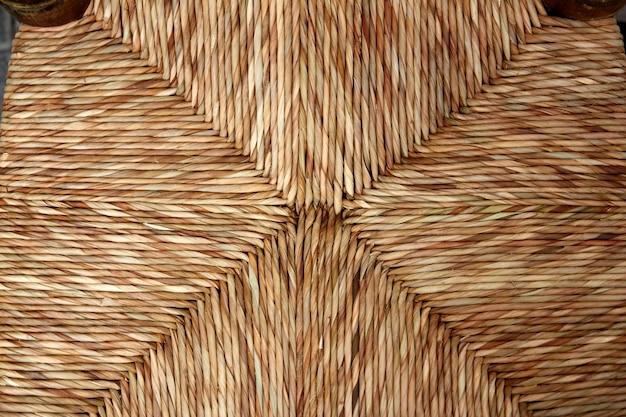 Chaise enea siège traditionnel roseaux séchés herbe artisanat