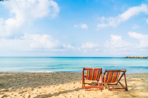 Chaise sur la plage