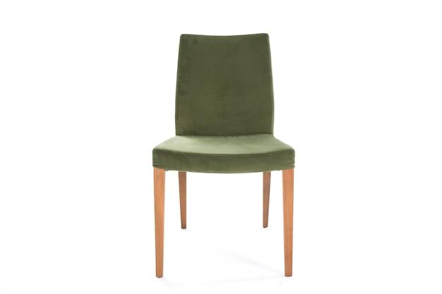 Chaise de style de vie vert mobilier de fond blanc