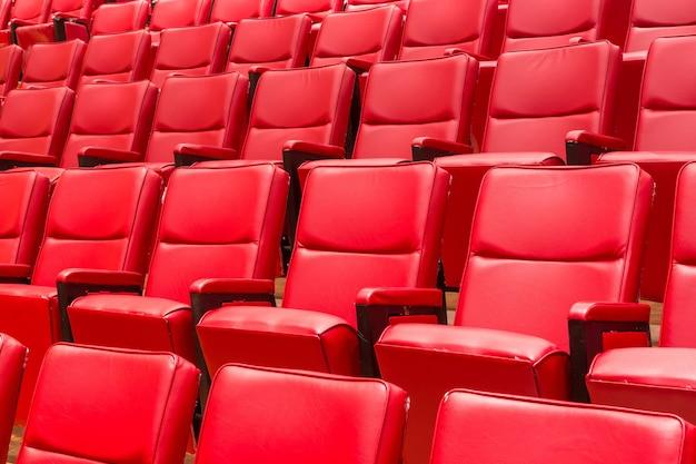 Chaise de théâtre rouge