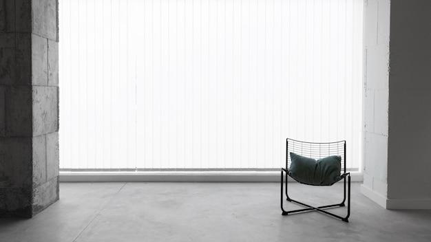 Chaise de travail vue de face avec espace copie