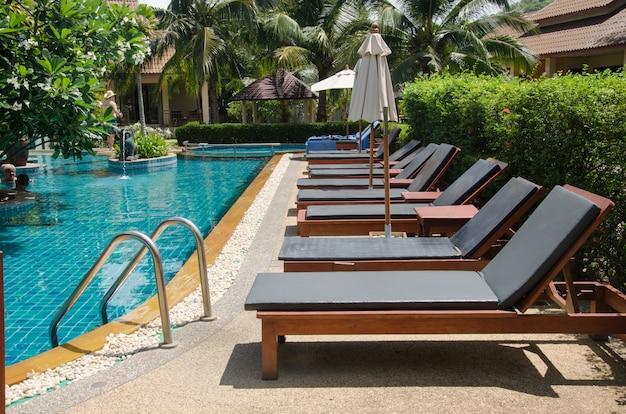 Chaises piscine