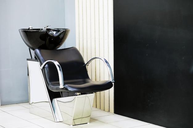 Chaises professionnelles pour laver les cheveux avant après la coupe de cheveux