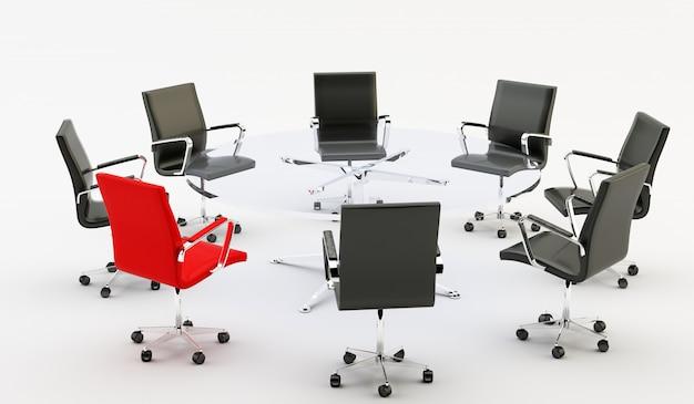 Chaises et table de bureau