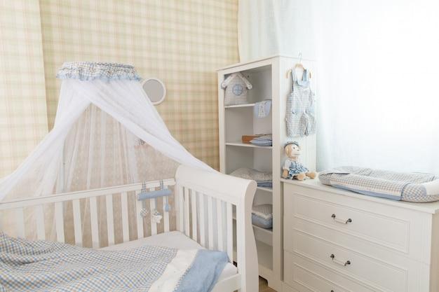 Chambre bébé bleue