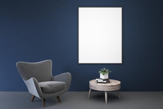 Chambre bleue vide