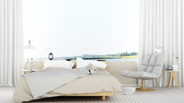 Chambre à coucher dans la nature de l'hôtel point de vue