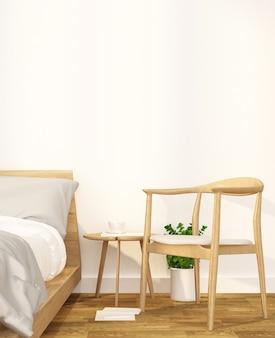 Chambre à coucher et espace de détente dans un appartement ou un hôtel - aménagement intérieur - rendu 3d