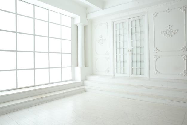 Chambre dans les tons blancs