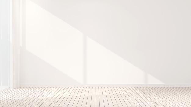 Chambre design salle vide blanche à louer ou autre pièce