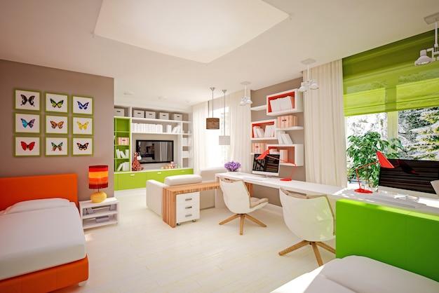Chambre d'enfants intérieur dans un style moderne
