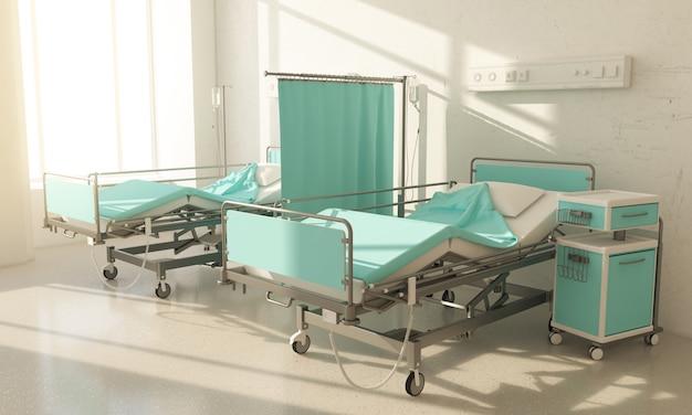 Chambre d'hôpital deux lits