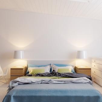 Chambre d'hôtel avec lit