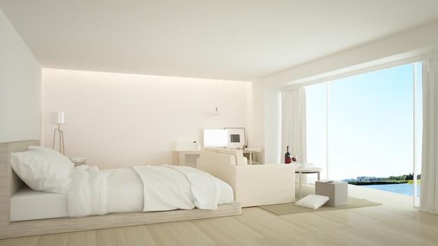 La chambre d'hôtel minimaliste intérieure
