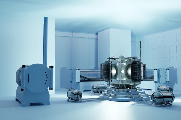 Chambre hyperbare tridimensionnelle