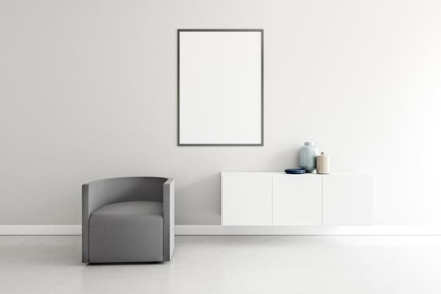 Chambre minimale avec des meubles élégants