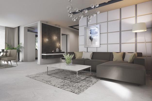 Chambre moderne et élégante