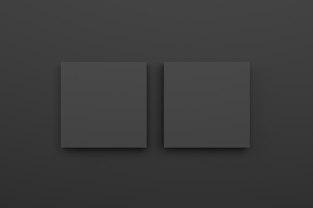 Chambre noire avec cadre noir blanc. rendu 3d.