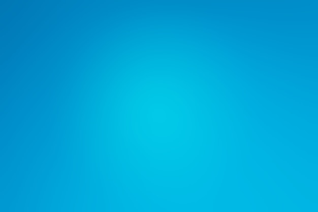 Chambre studio de forme abstraite bleu royal.
