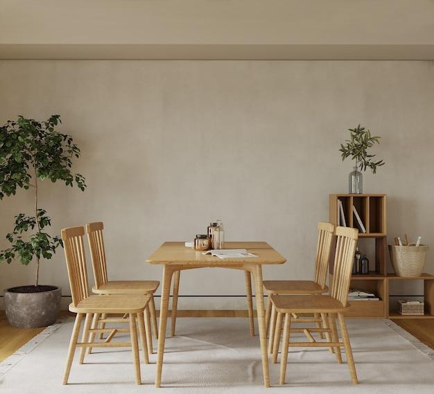 Chambre avec table et chaise et décor