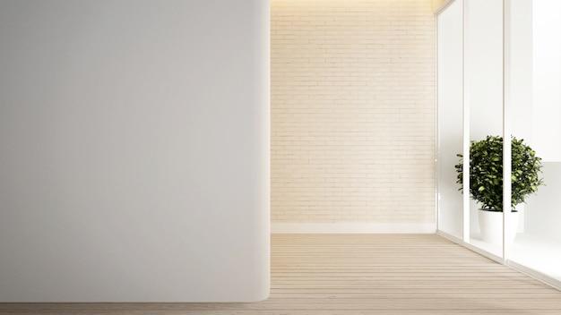 Chambre vide dans un appartement ou un hôtel.