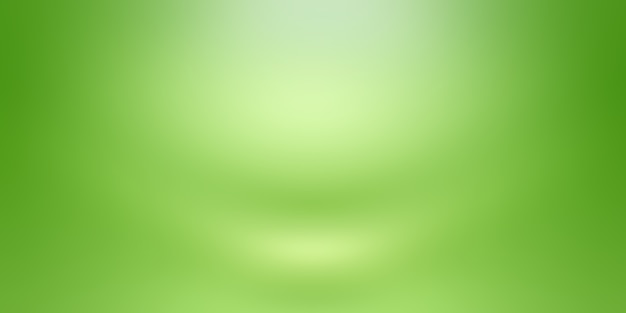 Chambre vide de fond de studio abstrait dégradé vert uni de luxe avec un espace pour votre texte et votre image