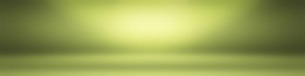 Chambre vide de fond de studio abstrait dégradé vert uni de luxe avec un espace pour votre texte et votre image.