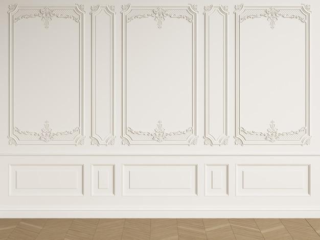 Chambre vide intérieure classique avec espace copie