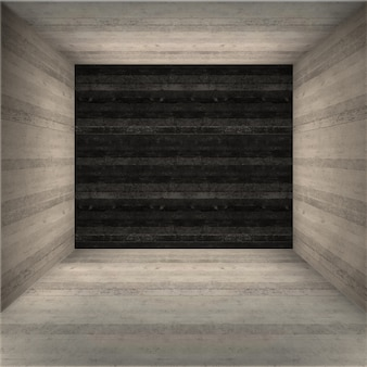 Chambre vide avec des murs texturés