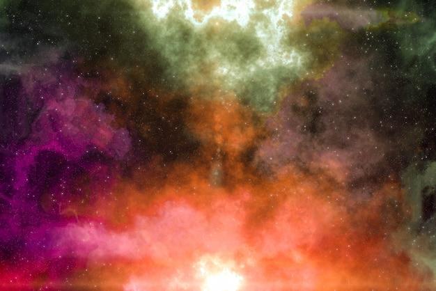Champ d'étoiles haute définition, espace de ciel nocturne coloré. nébuleuse et galaxies dans l'espace. fond de concept d'astronomie.