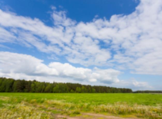 Champ vert et ciel bleu