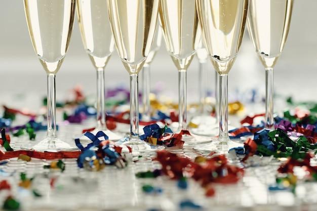 Champagne dans des verres