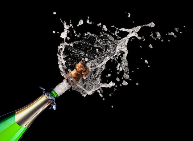 Champagne explosion fond