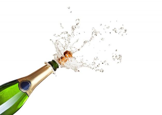 Champagne sautant