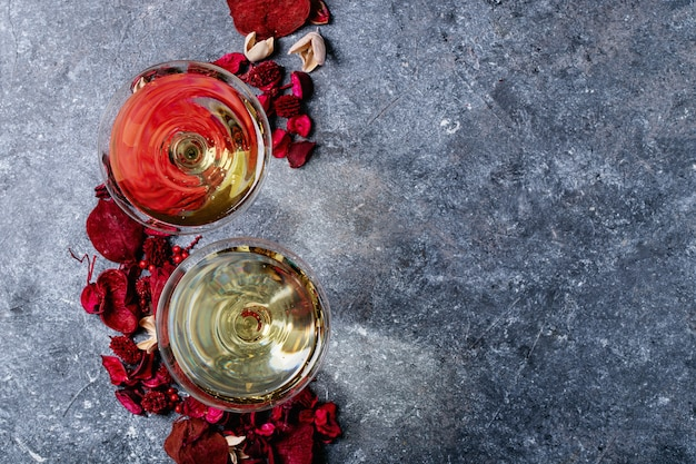 Champagne en verre
