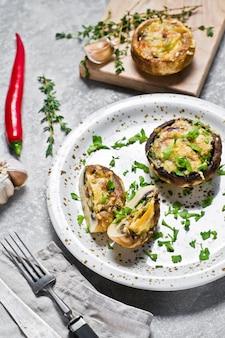 Champignons farcis au four ingrédients pour la cuisine